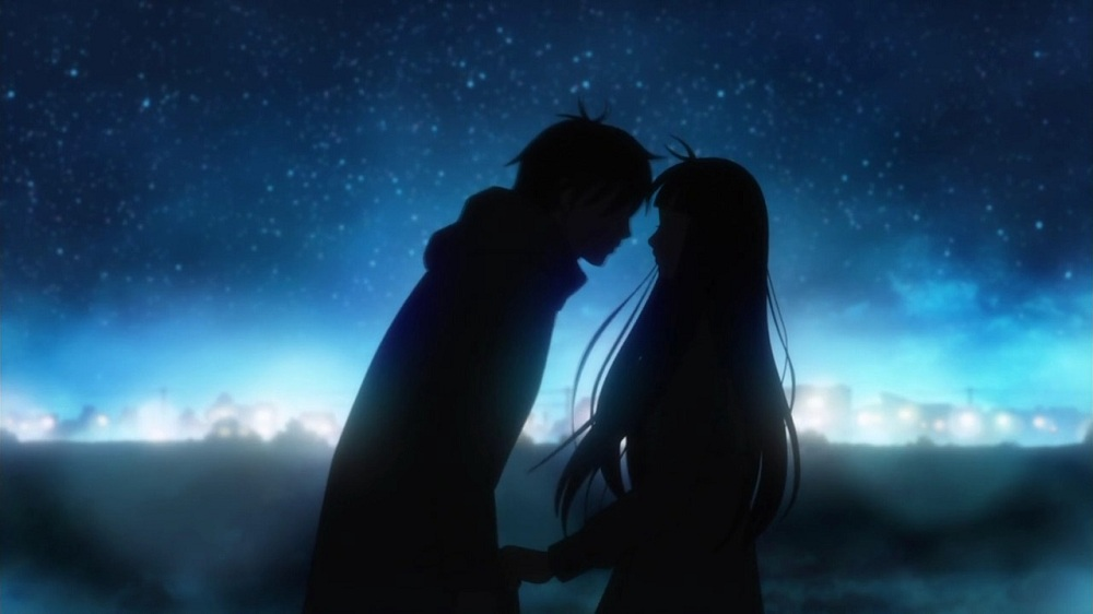 romantic-kiss-anime-boy-couple-girl-kimi-ni-todoke-night-90745