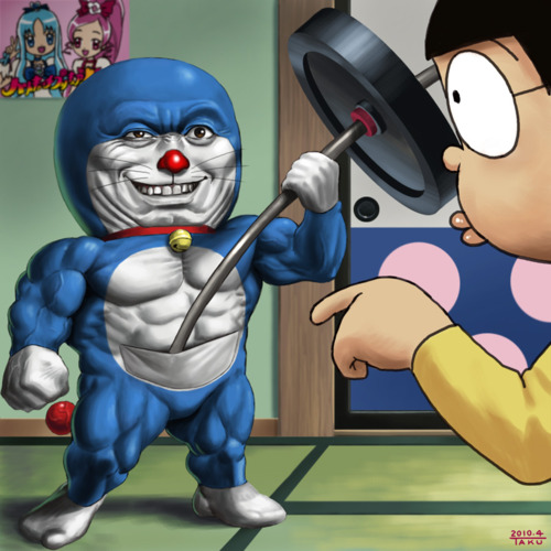 doraemon muscle fitness awesome monster bego