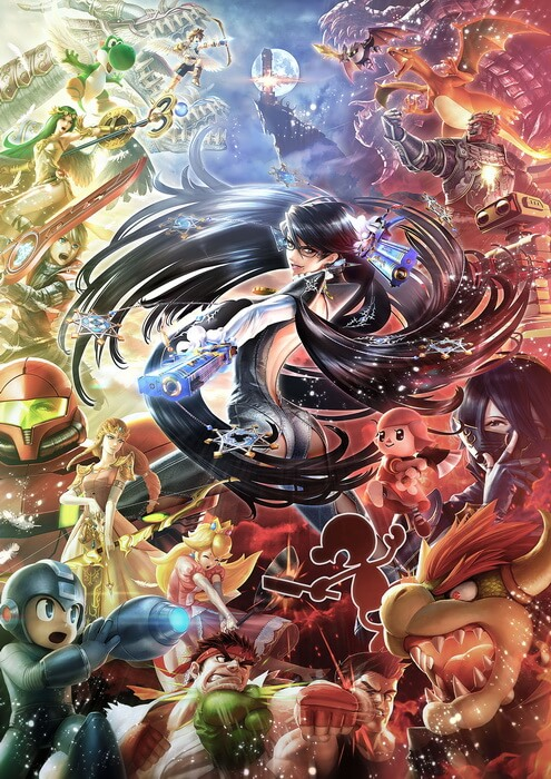 super-smash-bros-bayonetta-poster
