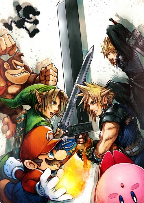 super-smash-bros-cloud-poster