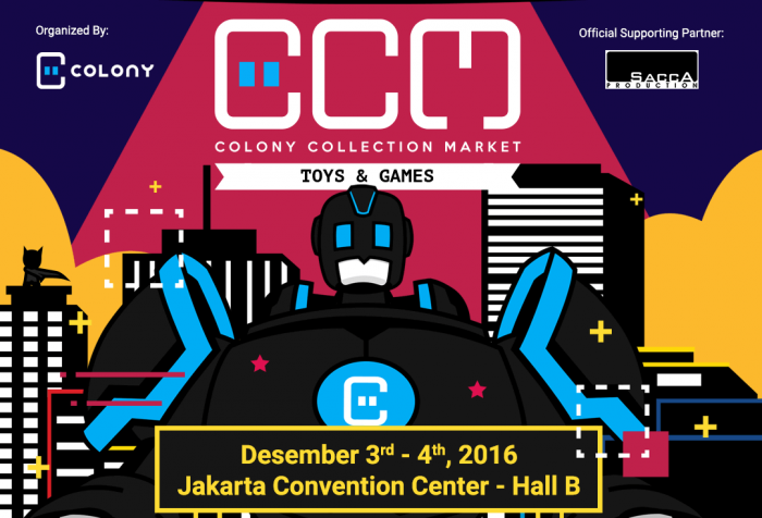 Ada Pelelangan Mainan Langka dan Pelelangan Amal di Colony Collection Market 2016: Toys & Games