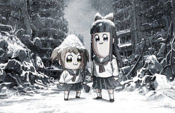 Anime 'Pop Team Epic' Tampilkan Visual Baru