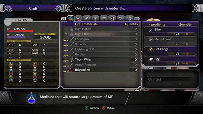 'Bloodstained: Ritual of the Night' Pamerkan Gameplay Crafting