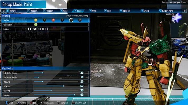 'New Gundam Breaker' Pamerkan Gameplay Setup Mode