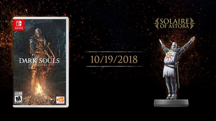 'Dark Souls Remastered' Versi Switch Siap Rilis per 19 Oktober